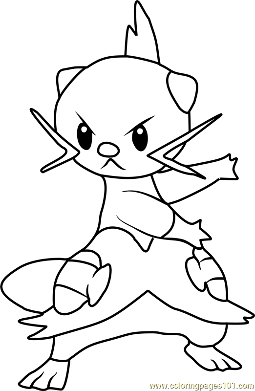 pokemon templates print - dewott coloring printable coloring pages