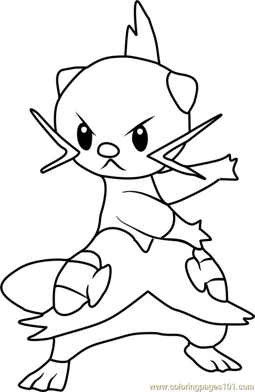 Dewott Pokemon Coloring Page