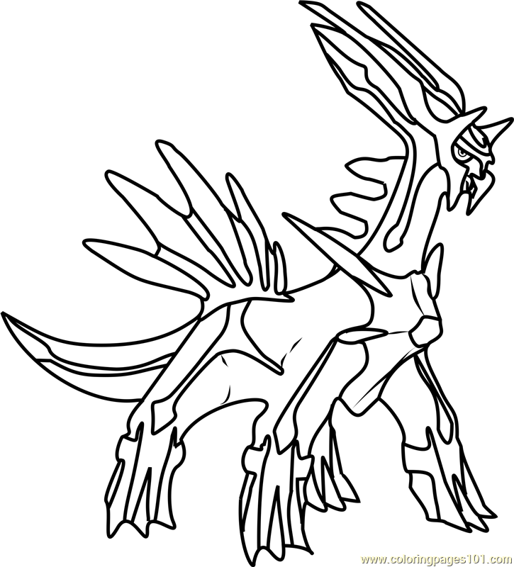 Dialga Pokemon Coloring Page Free Pokmon Coloring Pages