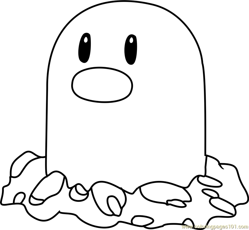Diglett Pokemon Coloring Page