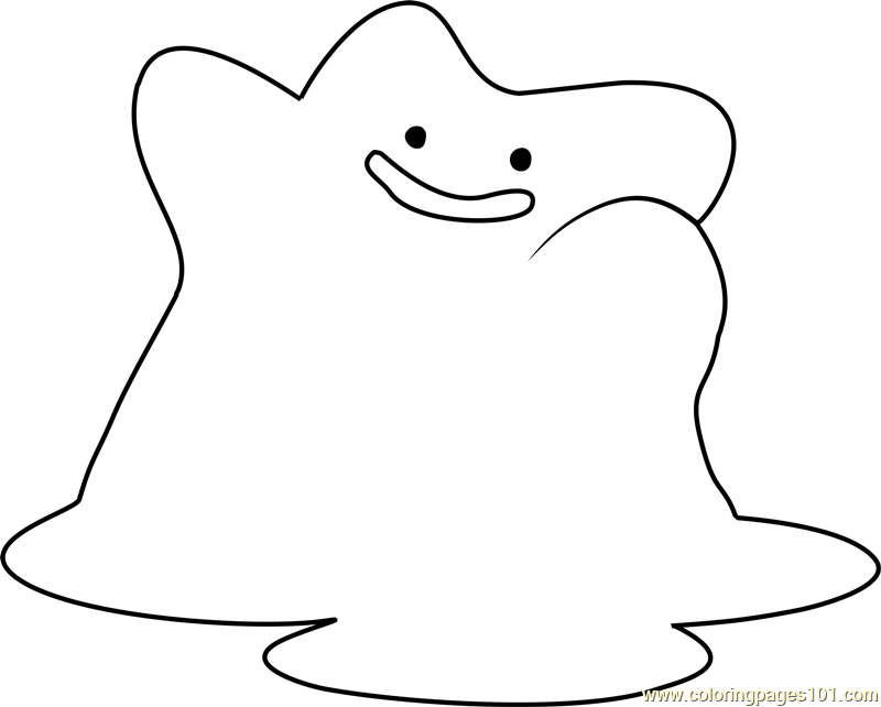 ditto pokemon coloring page