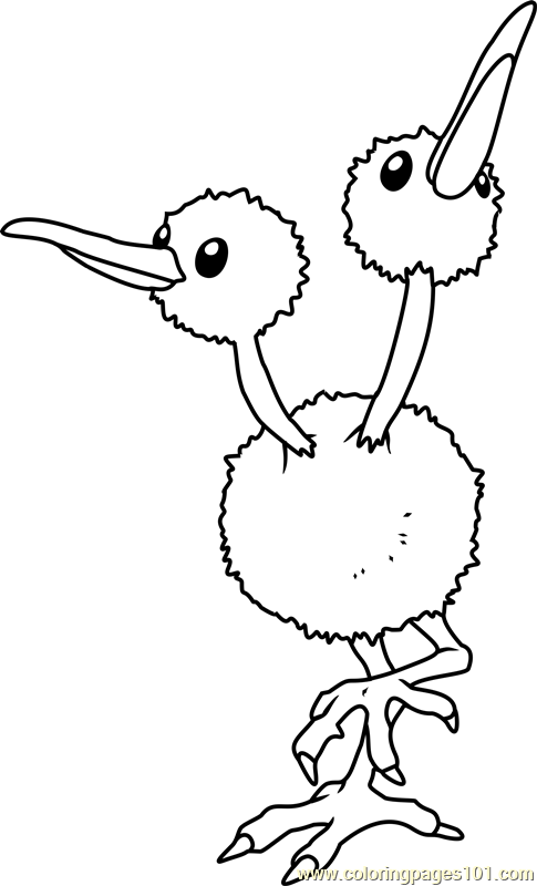 Doduo Pokemon Coloring Page Free