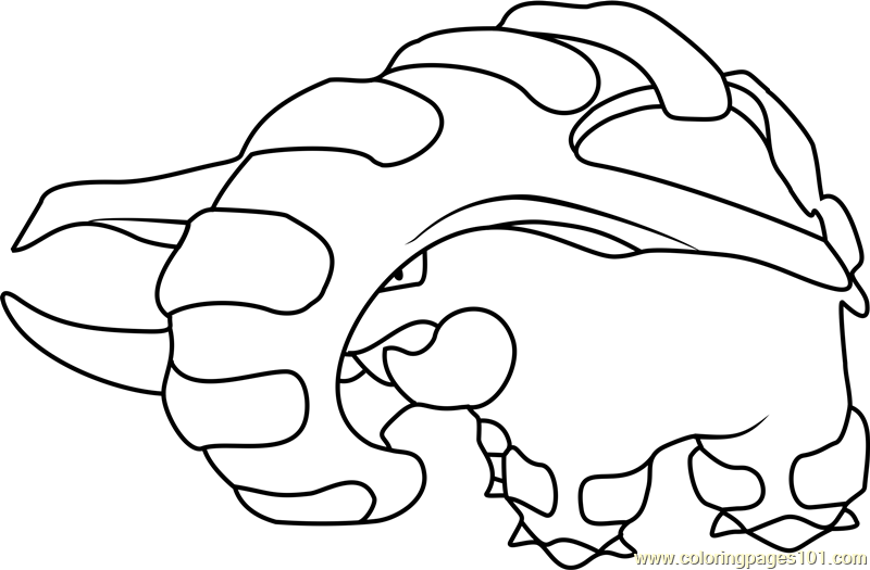 Donphan Pokemon Coloring Page