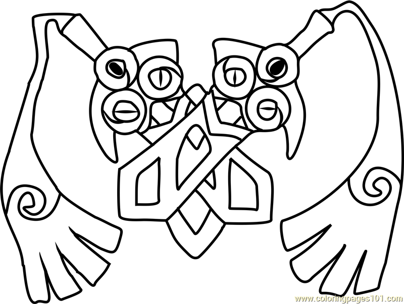 Doublade Pokemon Coloring Page