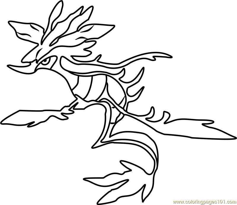 Dragalge Pokemon Coloring Page