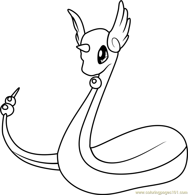 Dragonair Pokemon Coloring Page - Free Pokémon Coloring Pages ...