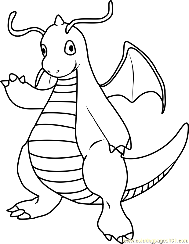 Dragonite Pokemon Coloring Page
