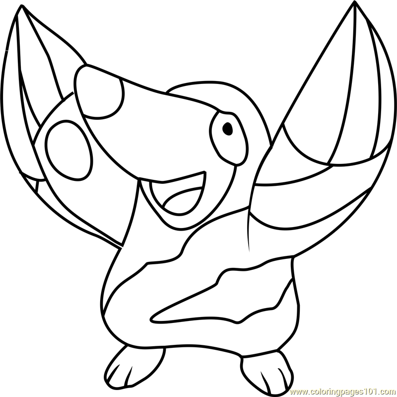 Drilbur Pokemon Coloring Page Free Pokmon Coloring Pages
