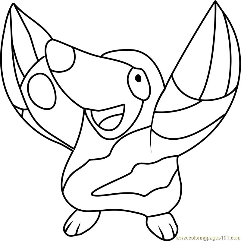 Drilbur Pokemon Coloring Page - Free Pokémon Coloring ...