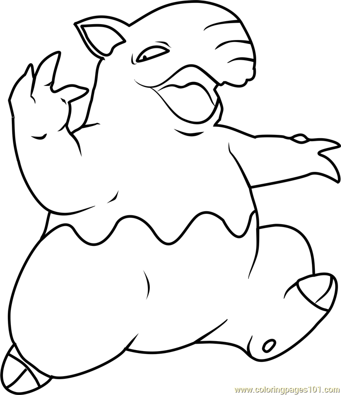 Groudon Coloring Page Electric Pokemon Colouring Pages