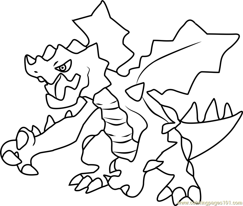Druddigon Pokemon Coloring Page