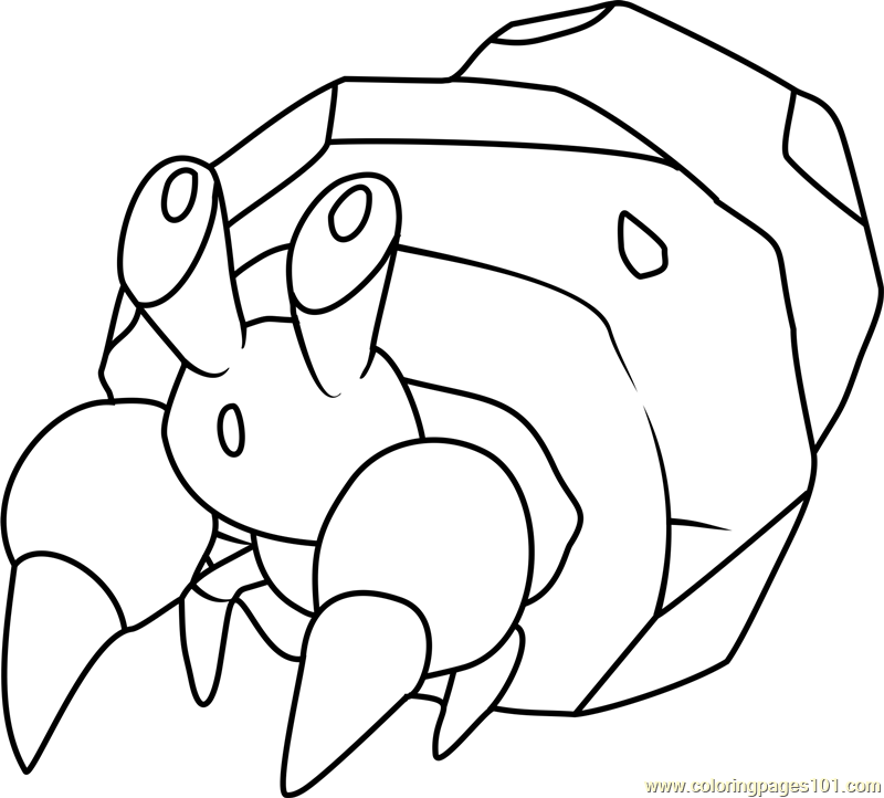 Dwebble Pokemon Coloring Page Free Pok 233 Mon Coloring