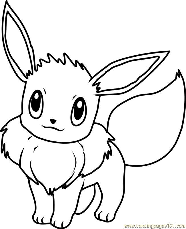 Eevee Pokemon Coloring Page - Free Pokémon Coloring Pages ...