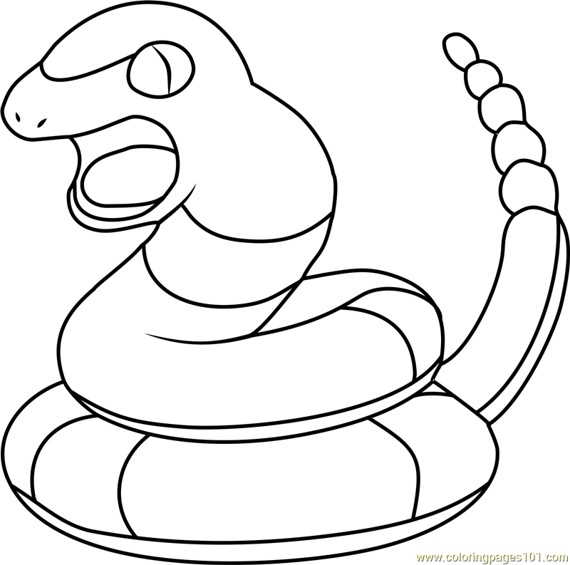 Ekans Pokemon Coloring Page Free Pok mon Coloring Pages
