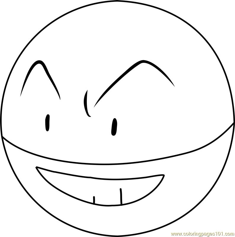 Electrode Pokemon Coloring Page Free Pokmon Coloring Pages