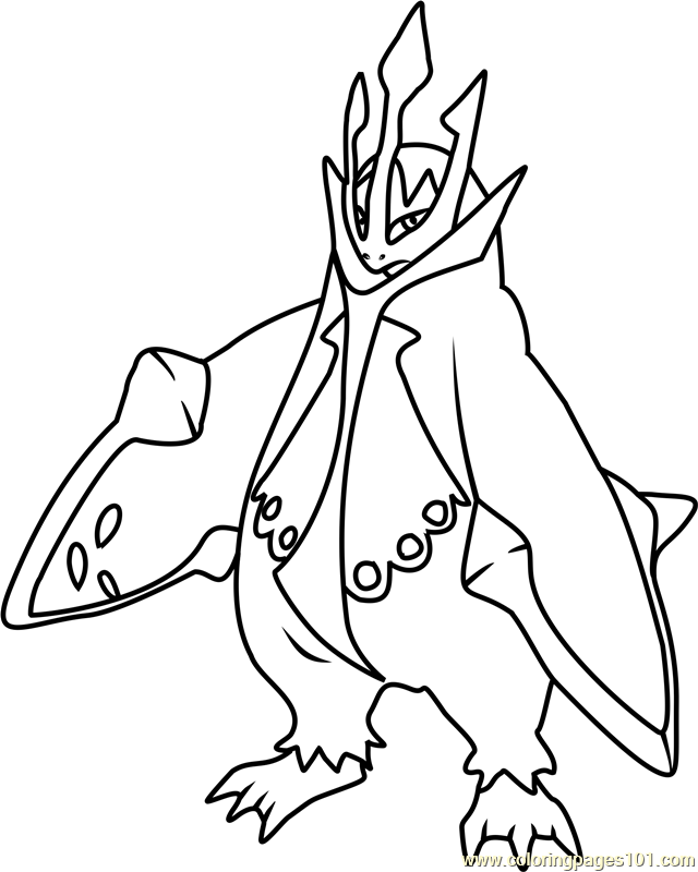 pokemon empoleon coloring pages - photo#3