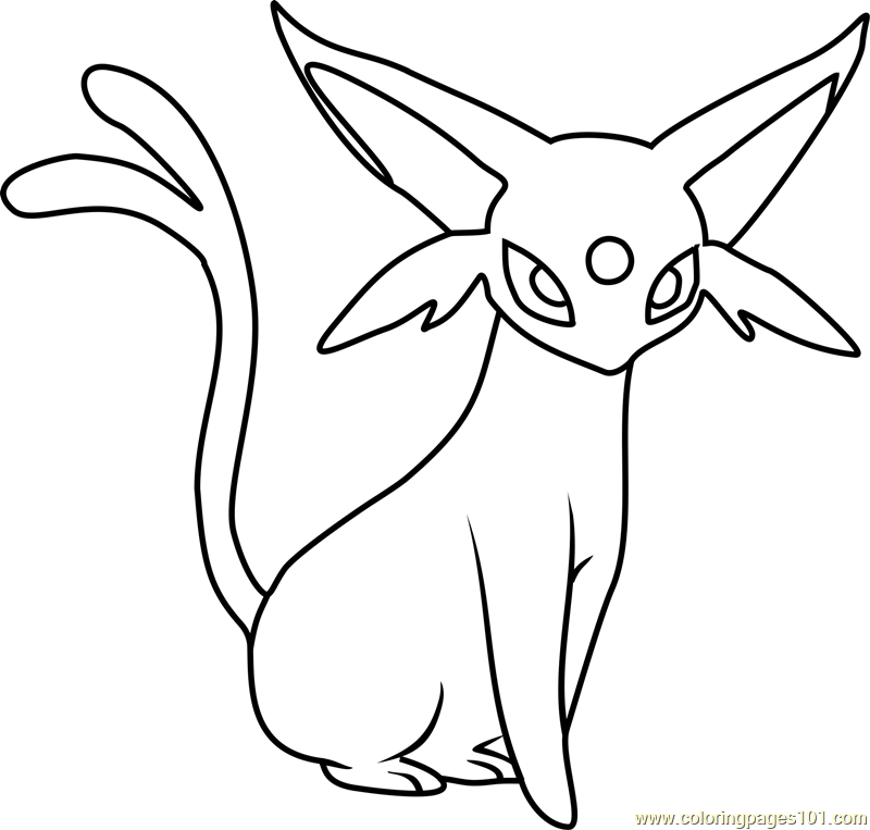 Espeon Pokemon Coloring Page