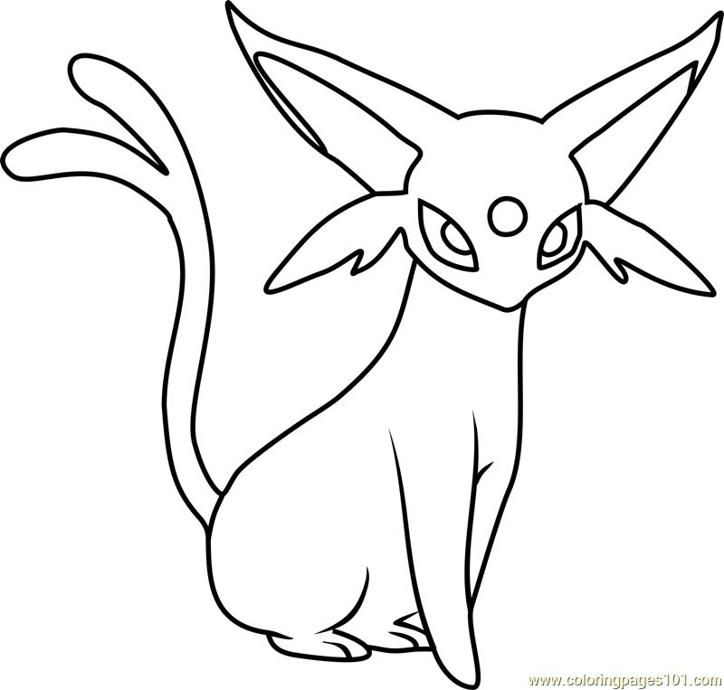 Espeon Pokemon Coloring Page