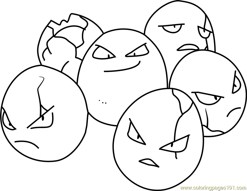 Exeggcute Pokemon Coloring Page