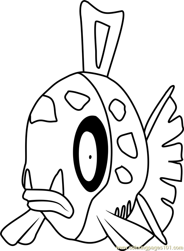 Feebas Pokemon Coloring Page