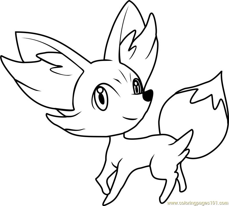 Fennekin Pokemon Coloring Page Free Pokmon Coloring Pages