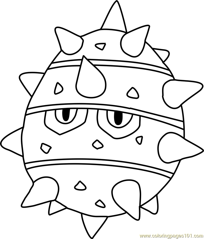 Ferroseed Pokemon Coloring Page