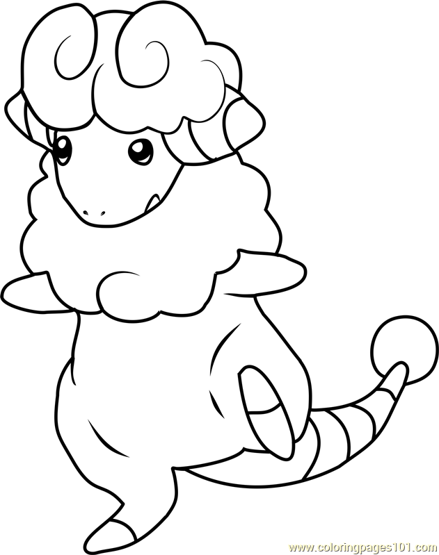 Flaaffy Pokemon Coloring Page
