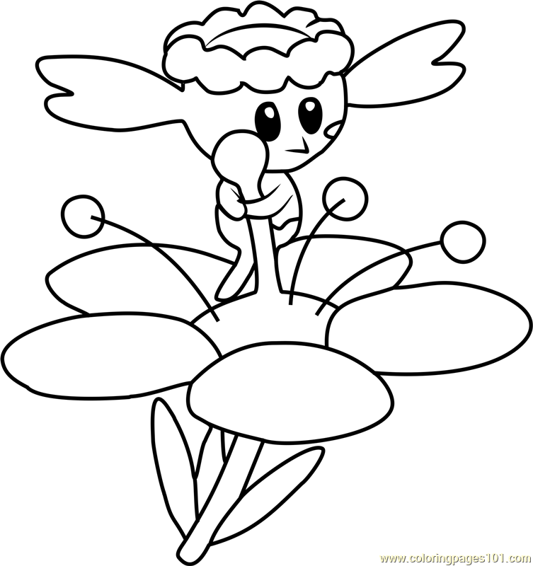 pokemon coloring pages flabebe flower - photo#11