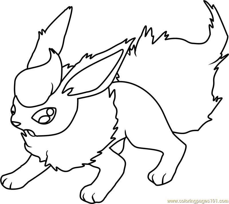 Flareon Pokemon Coloring Page
