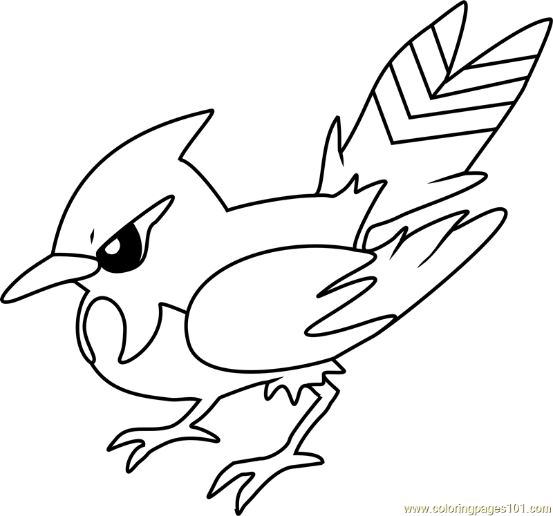 Fletchinder Pokemon Coloring Page