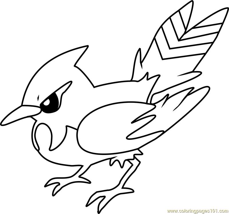 Fletchinder Pokemon Coloring Page - Free Pokémon Coloring ...