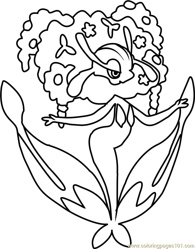 Florges Pokemon Coloring Page Free Pokmon Coloring Pages