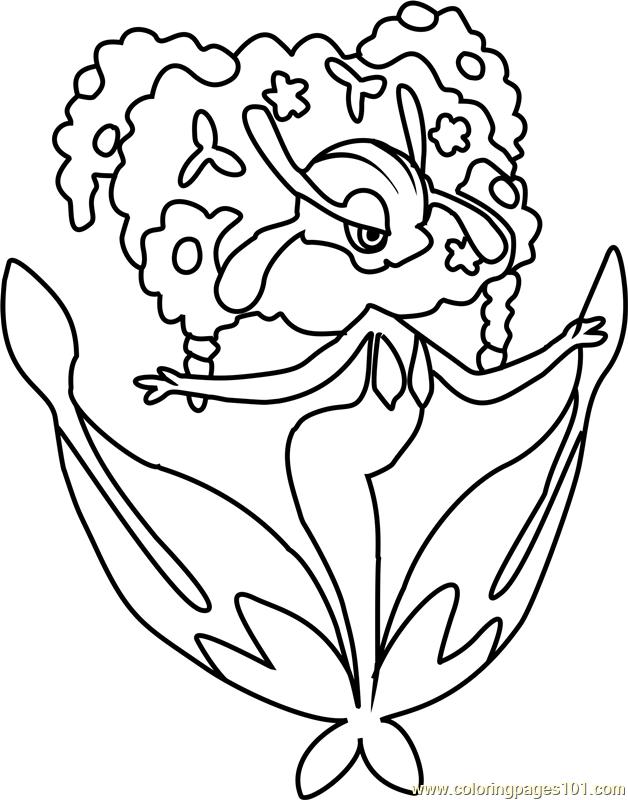 florges pokemon coloring page