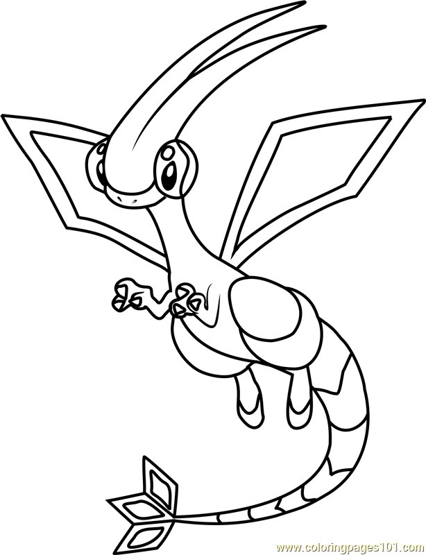 Flygon Pokemon Coloring Page