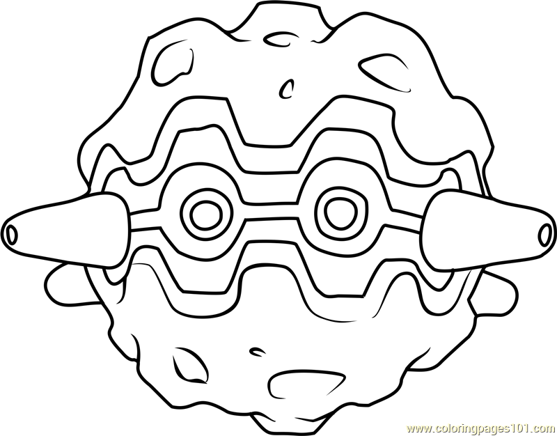 forretress pokemon coloring page