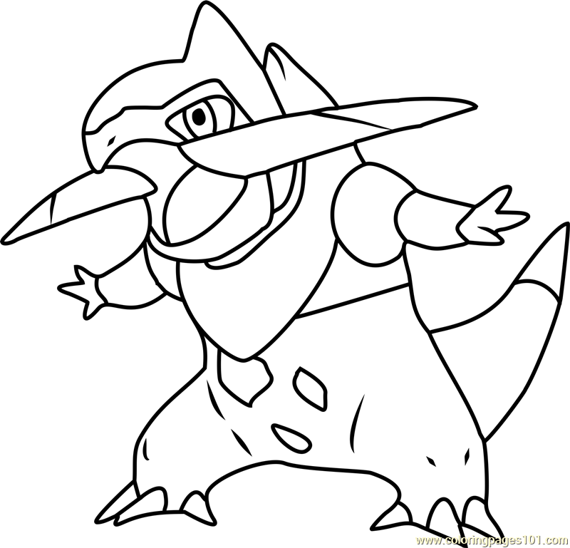 fraxure pokemon coloring page