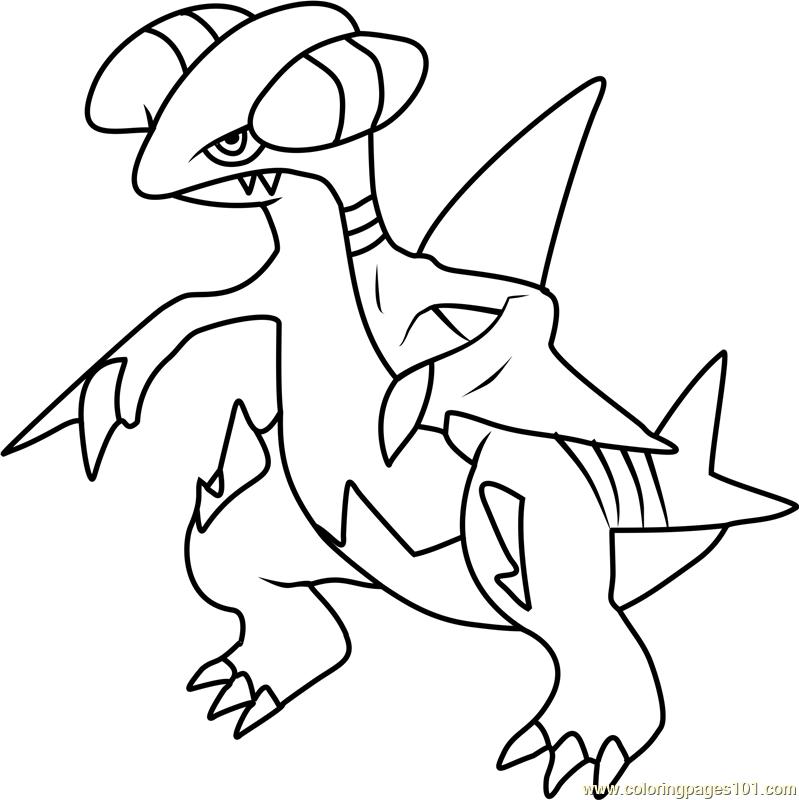Gabite Pokemon Coloring Page Free Pokmon Coloring Pages