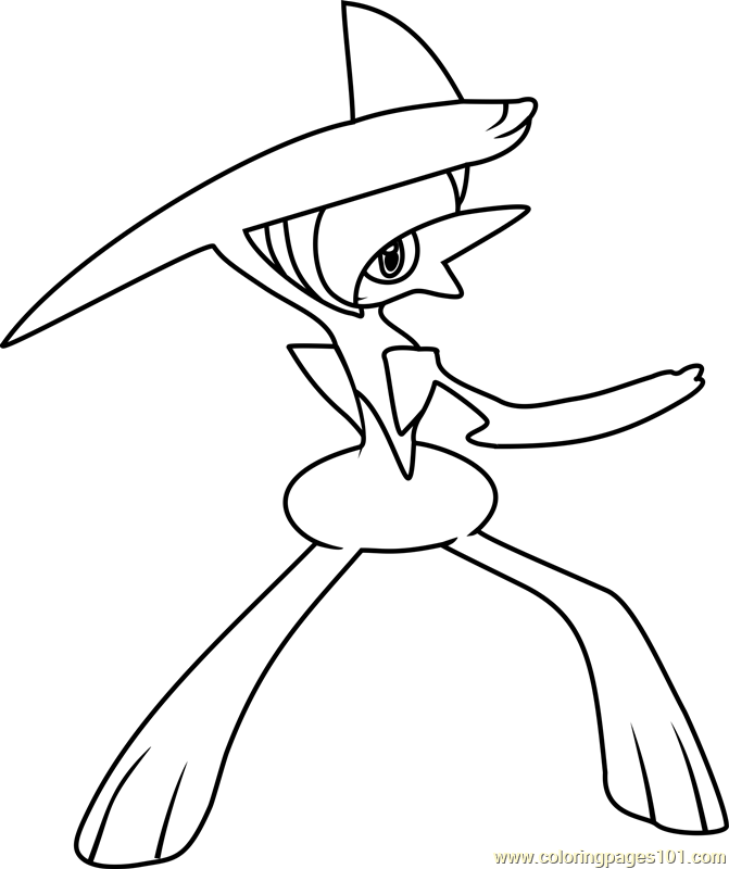Gallade Pokemon Coloring Page
