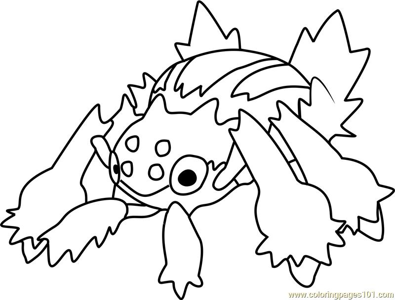 Galvantula Pokemon Printable Coloring Page