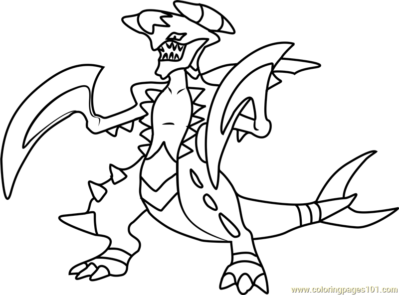 Garchomp Pokemon Coloring Page Free Pokmon Coloring Pages