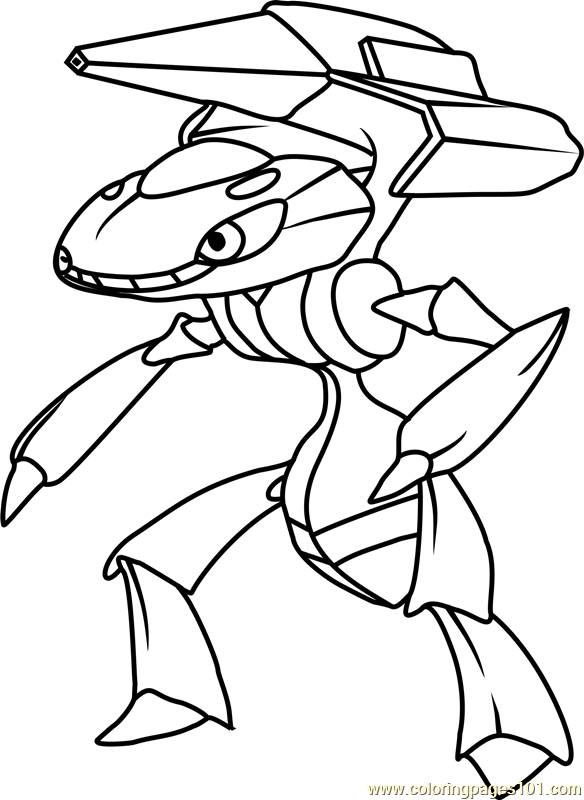 Genesect Pokemon Coloring Page Free Pok 233 Mon Coloring