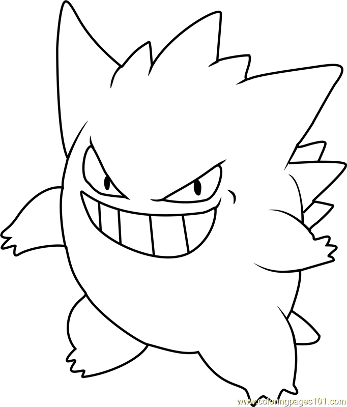Gengar Pokemon Coloring Page