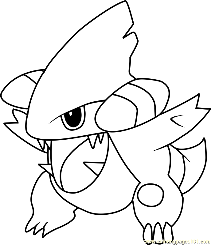 Gible Pokemon Coloring Page Free Pok 233 Mon Coloring Pages
