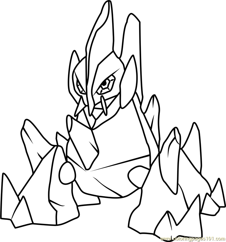 Gigalith Pokemon Coloring Page For Kids Free Pokemon Printable Coloring Pages Online For Kids Coloringpages101 Com Coloring Pages For Kids
