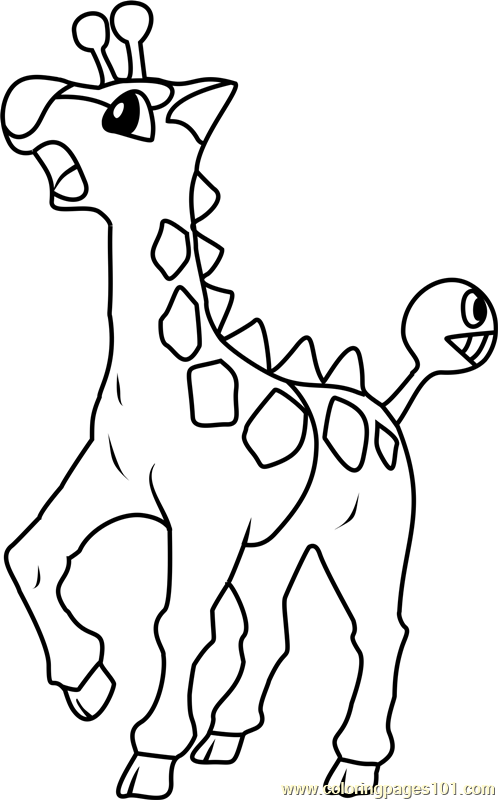 Girafarig Pokemon Coloring Page