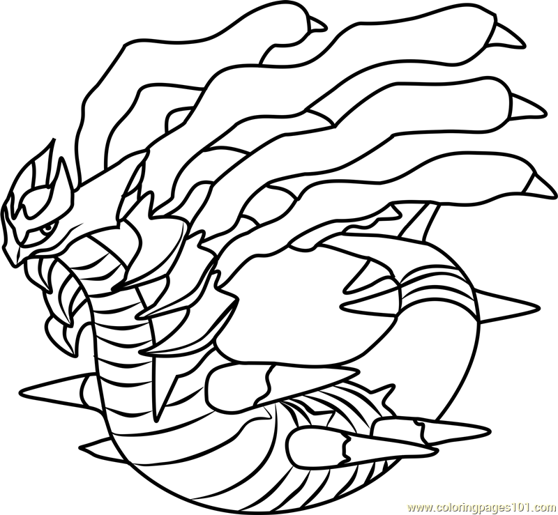 giratina legendary pokemon coloring coloring pages