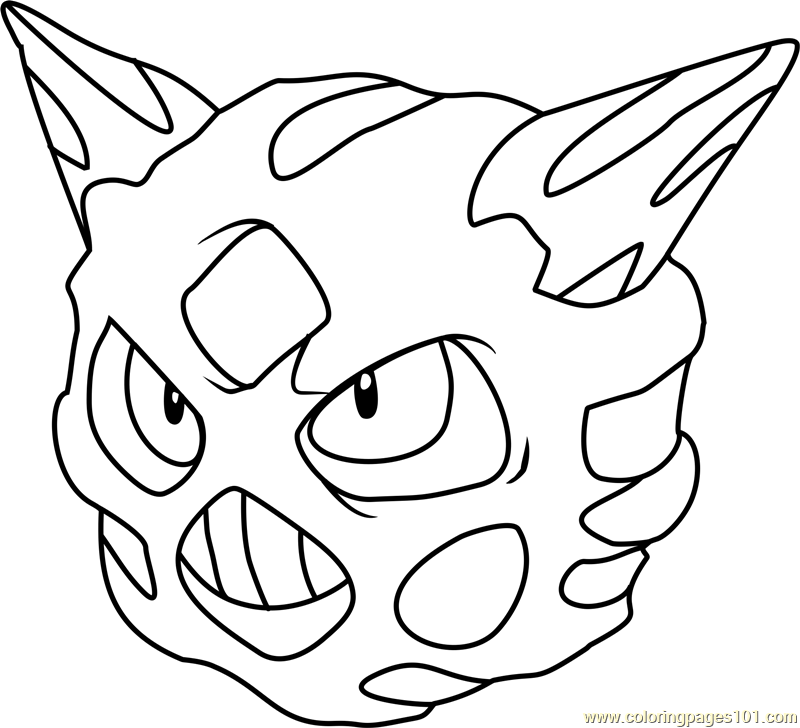 Glalie Pokemon Coloring Page