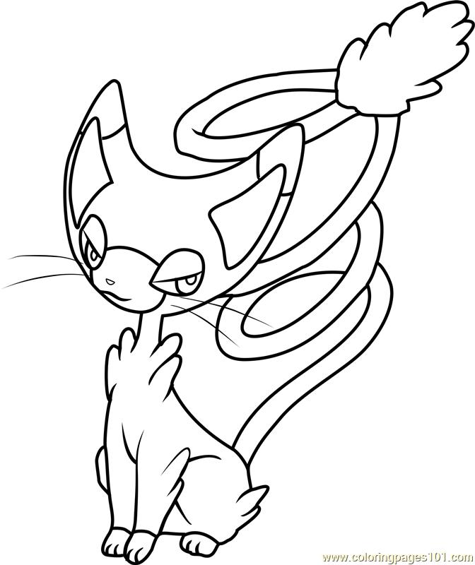 Glameow Pokemon Coloring Page Free Pok mon Coloring