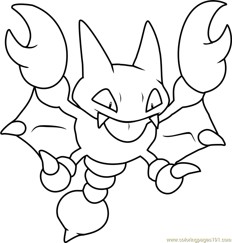 Gligar Pokemon Coloring Page
