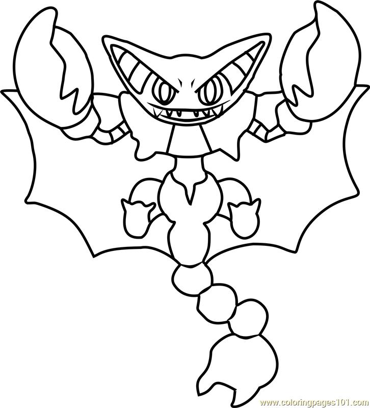 Gliscor Pokemon Coloring Page